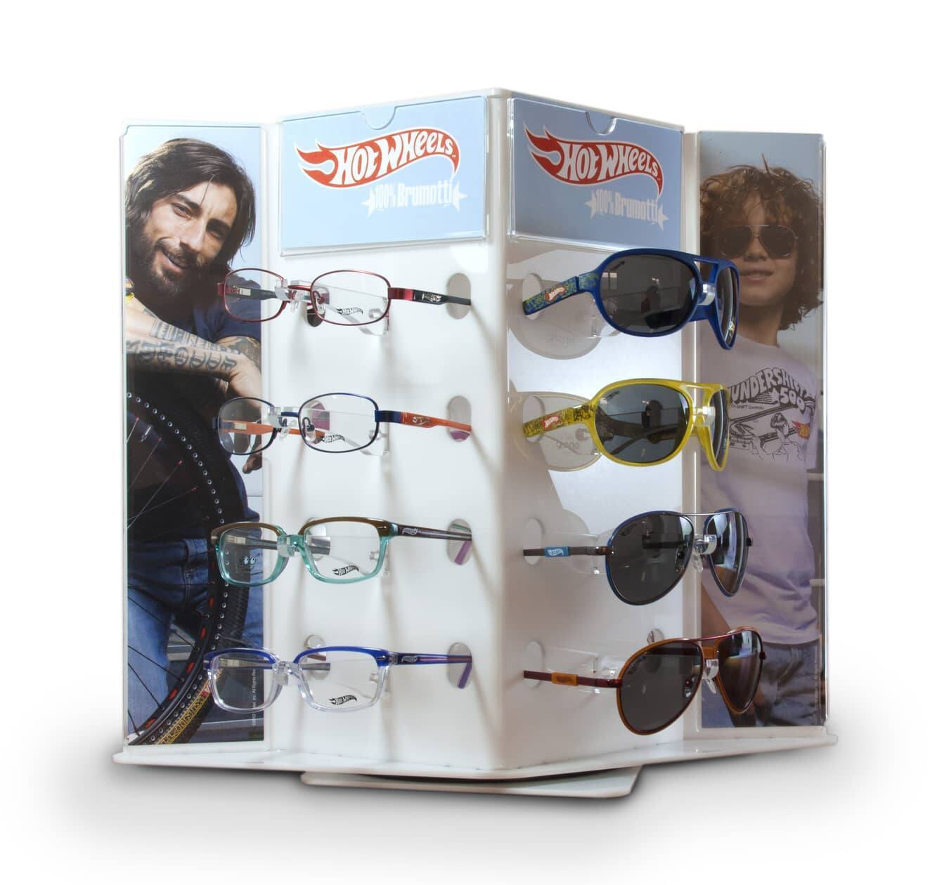 Swivel counter display unit for Glasses